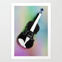 violin Art Prints featuring Violin by Christine baessler