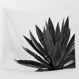 Agave Cactus Black & White Wall Tapestry