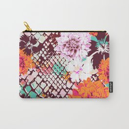 Croc Floral Carry-All Pouch