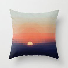 Colors Sunset Throw Pillow