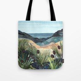 Coastal Blue Landscape Tote Bag
