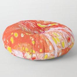 Orange Candy Coating Floor Pillow