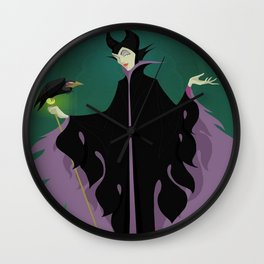 Maleficent And Diablo Wall Clock