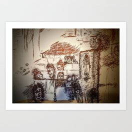 Cassie at the Theater Art Print