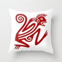 monkey Throw Pillows featuring Monkey by Fernando Vieira