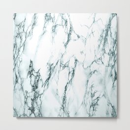 Green Marble Look Metal Print