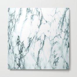 Green Marble Look Metal Print