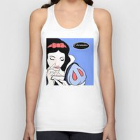 cocaine Tank Tops featuring Snow White: Cocaine Attitude by Trash Apparel