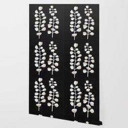 White Eucalyptus Leaves Wallpaper