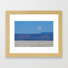 Landsailer moon Framed Art Print