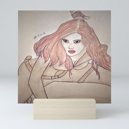 Scarlett Johansson by Double R Mini Art Print