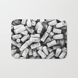 Something Nostalgic II Twist-off Wine Corks in Black And White #decor #society6 #buyart Bath Mat