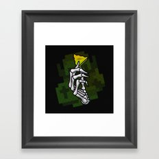 HYRULE VALUES TRIFORCE PART Framed Art Print