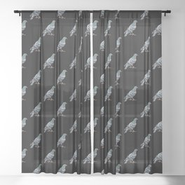 Pigeon Black Pattern Sheer Curtain