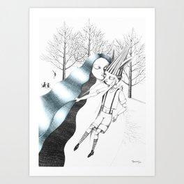 la fata e pinocchio Art Print