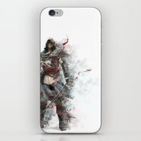 assassins creed iPhone & iPod Skins featuring Assassins Creed - Black Flag by alonnusenbaum