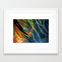 hippy Framed Art Prints featuring Hippy Flag by Mingo