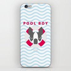 Boston Terrier: Pool boy. iPhone & iPod Skin