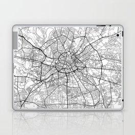 Manchester Map White Laptop & iPad Skin