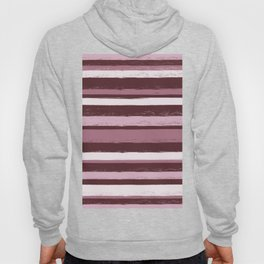 Stripes - Pink Rose Wine Hoody