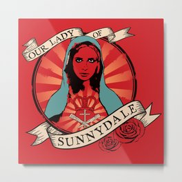 Our Lady of Sunnydale Metal Print