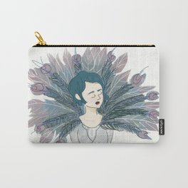 The Peacock Lady Carry-All Pouch