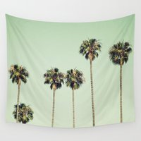 palm trees Wall Tapestries featuring Palm Trees  by Laura Ruth