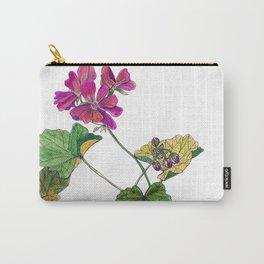 Geranium Botanical Carry-All Pouch