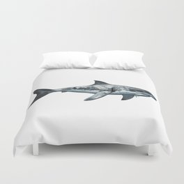 Great White (c) Duvet Cover