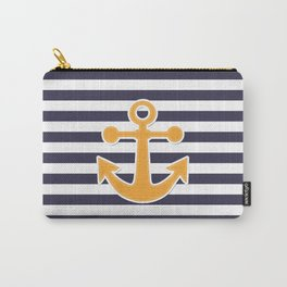 Blue , white , striped Carry-All Pouch