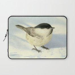 Chilly Chickadee Laptop Sleeve
