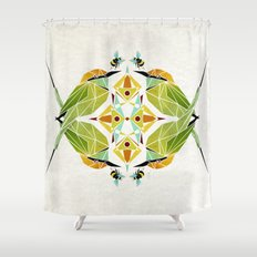 green bee eater  Shower Curtain