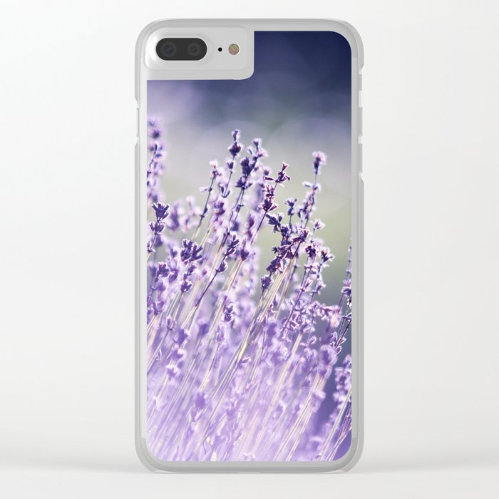 Spring Purple I Clear iPhone Case