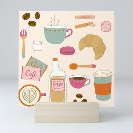 Drawing Coffee in a Café Mini Art Print