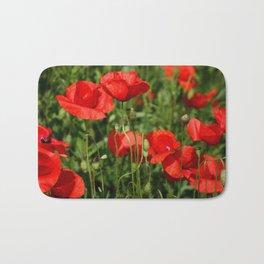 Red poppy Bath Mat