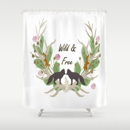 Wild and Free Fall Animals Shower Curtain