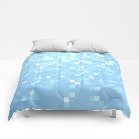 Blue Pixels Comforters