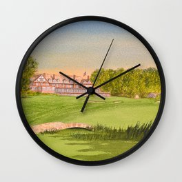 Baltusrol Golf Course 18th Hole Wall Clock