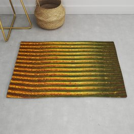 Rusted Tin Can rustic decor Rug