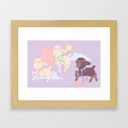 Baa Baa Black Sheep Framed Art Print