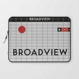 BROADVIEW   Subway Station Laptop Sleeve