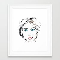 no face Framed Art Prints featuring face by Artemio Studio