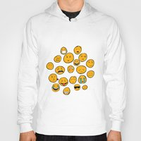 emoji Hoodies featuring Emoji Family by Jason Travis
