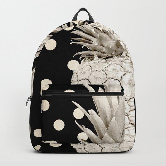 Gold Pineapple Polka Dots 3 Backpack