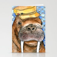 kevin russ Stationery Cards featuring Russ by Amy Nickerson