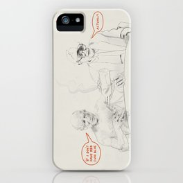 Picasso and Hockney iPhone Case
