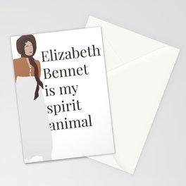 Elizabeth Bennet spirit animal Stationery Cards