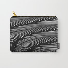 ALCHEMY dark grey mysterious wave abstract pattern Carry-All Pouch