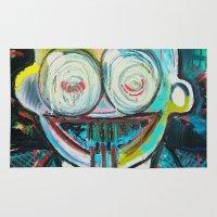 basquiat Area & Throw Rugs featuring Dusthead by Matt Pecson