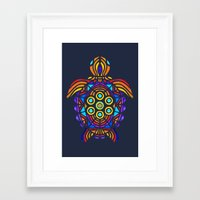 turtle Framed Art Prints featuring Turtle by ArtLovePassion